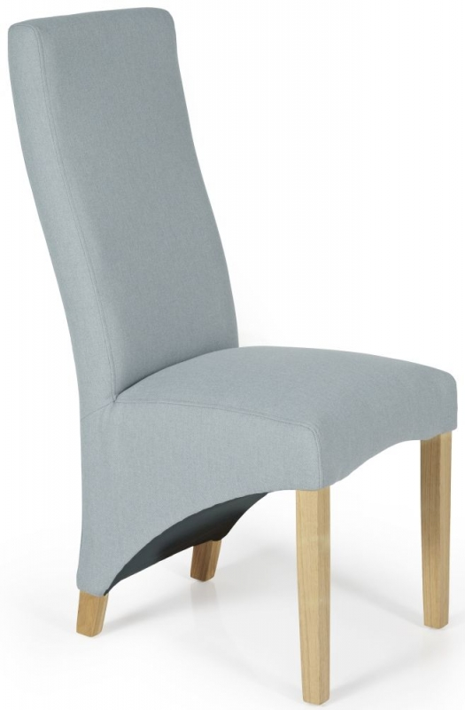 Serene Hammersmith Archer Fabric Dining Chair with Oak Legs (Pair)