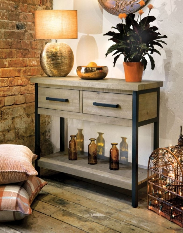 Rowico Lowry Industrial Console Table