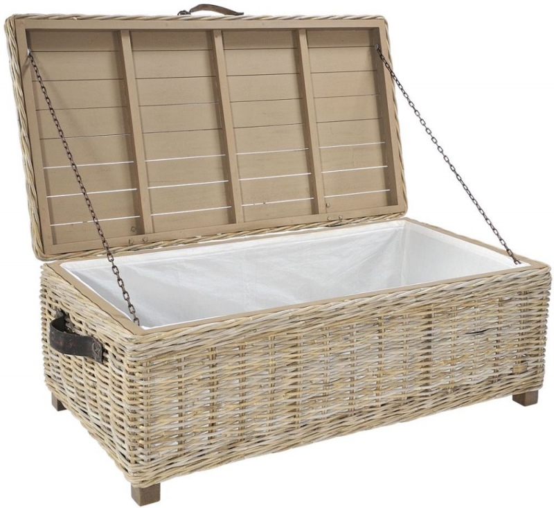 Small Grey Rattan Coffee Table: Buy Maze Rattan Grey Storage Coffee Table Online