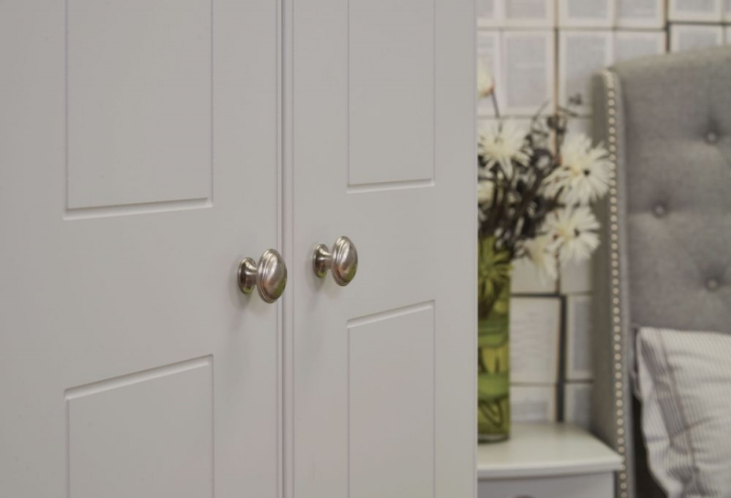 Victoria Grey Matt Triple Plain Wardrobe