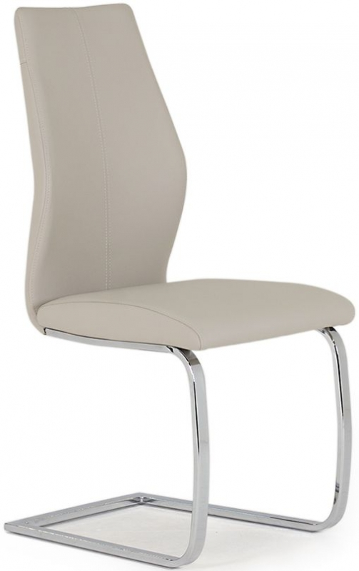 Vida Living Elis Taupe Faux Leather Dining Chair (Pair)