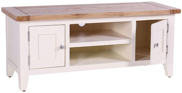 Vancouver Expressions Linen TV Unit - 2 Door 1 Shelf