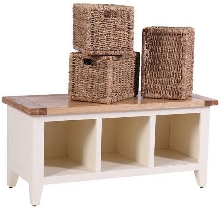 Vancouver Expressions Linen 3 Basket Drawer Storage Bench