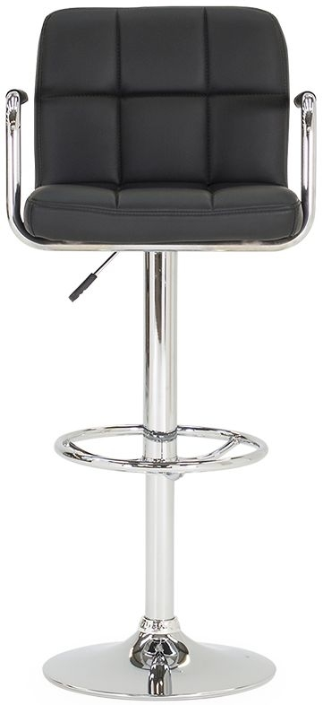 Vida Living Miami Black Faux Leather Bar Stool (Pair)