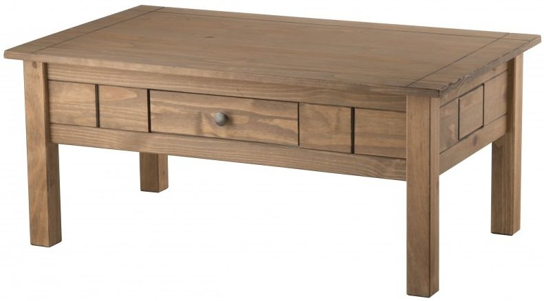 Buy birlea santiago pine coffee table 1 drawer online cfs uk Pine coffee table with drawers