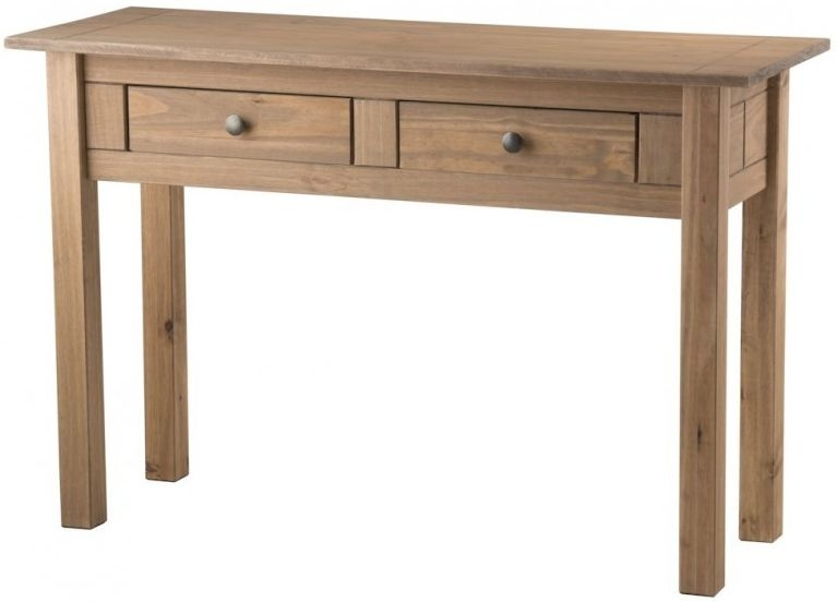 Buy birlea santiago pine console table 2 drawer online cfs uk - Pine sofa table with drawers ...