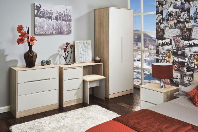 Monaco Kaschmir Matt and Bardolino Wardrobe - Tall 2ft 6in Plain