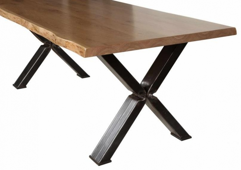 Buy carlton additions barkington cross leg oak dining table steel carlton additions barkington cross leg oak dining table steel legs watchthetrailerfo