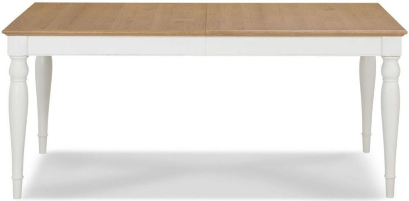 Bentley Designs Hampstead Two Tone Rectangular Extending Dining Table - 180cm-220cm