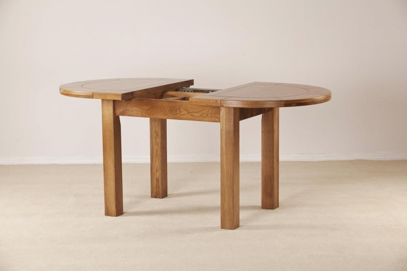 Rustic Oak Oval Large Extending Dining Table