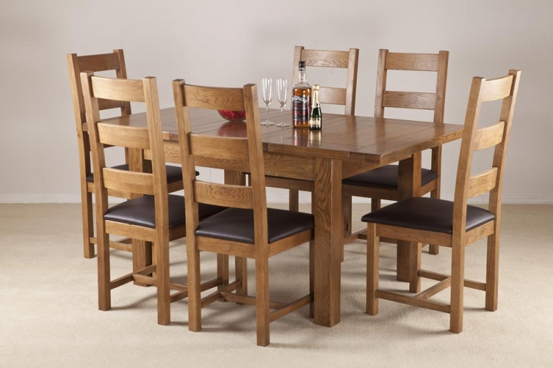 Rustic Oak Extending Dining Table