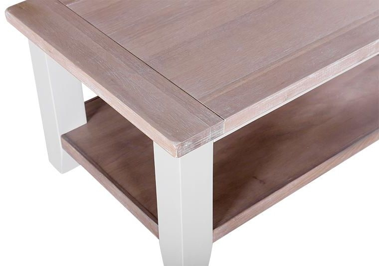 Chalked Oak and Light Grey Coffee Table - Rectangular