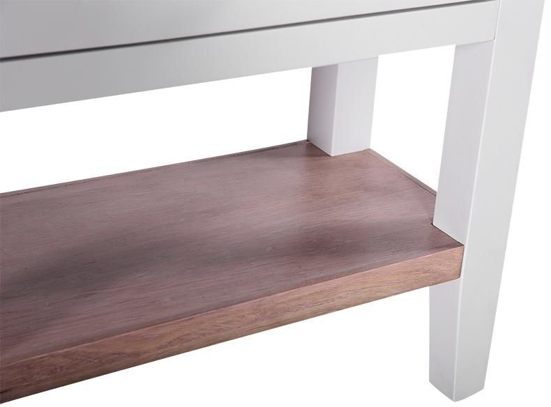 Chalked Oak and Light Grey 1 Drawer Console Table