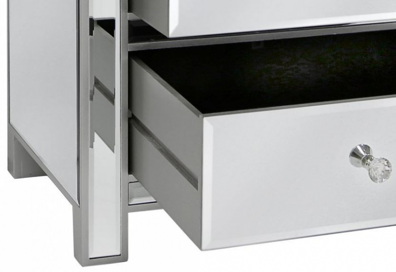 Paolo Mirrored Bedside Cabinet
