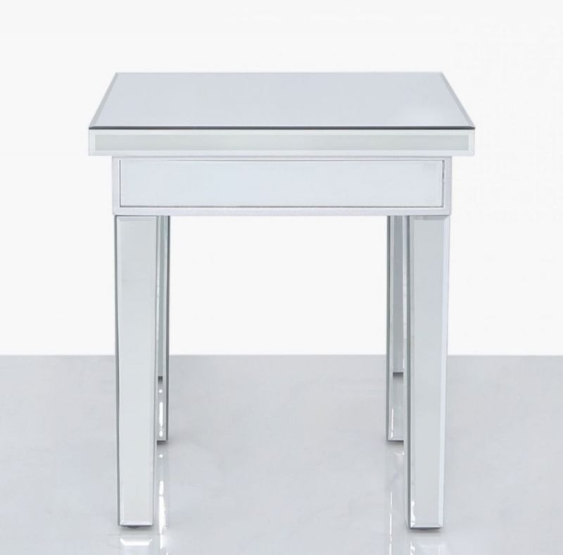 Paolo Mirrored Small Lamp Table