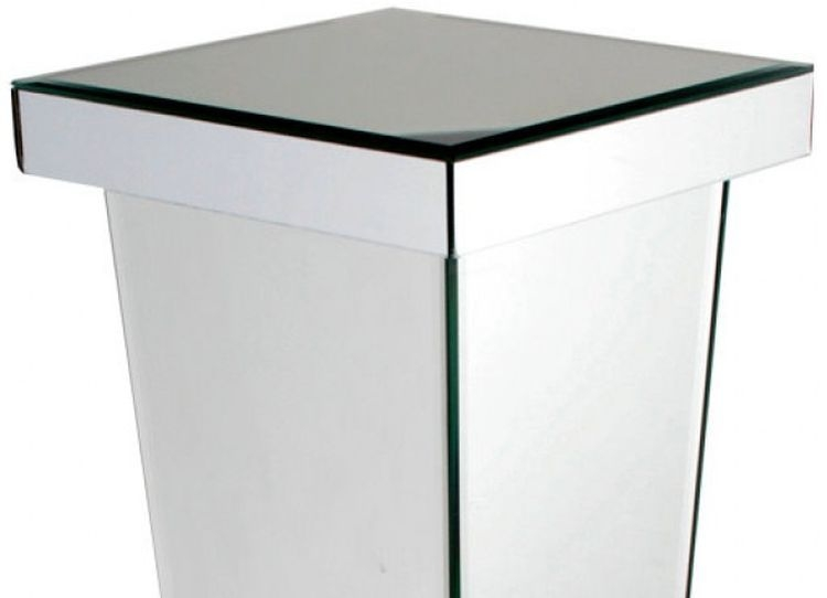 Paolo Mirrored Small Pedestal