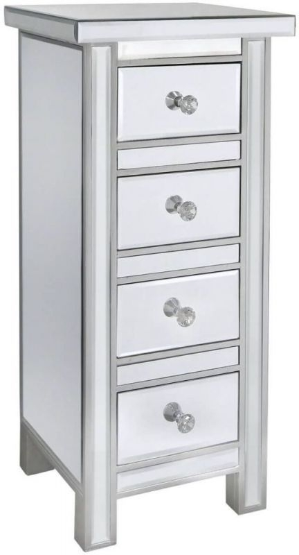 Paolo Mirrored 4 Drawer Chest