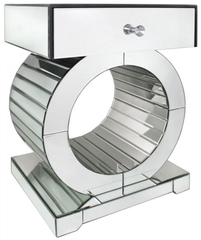 Paolo Mirrored O Frame Lamp Table