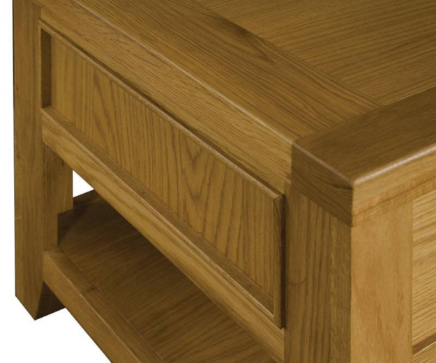 Michigan Oak Coffee Table - 1 Drawer