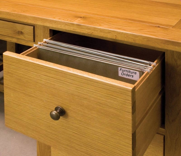 Michigan Oak Office Desk - 3 Drawers