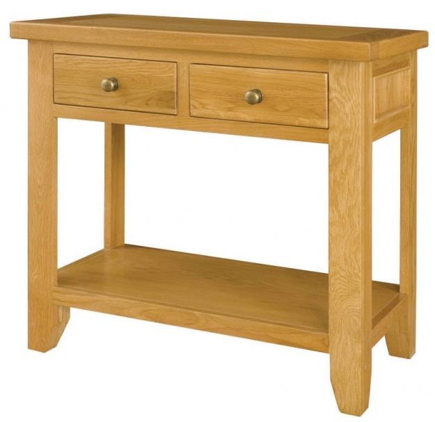 Michigan Oak Console Table - 2 Drawers
