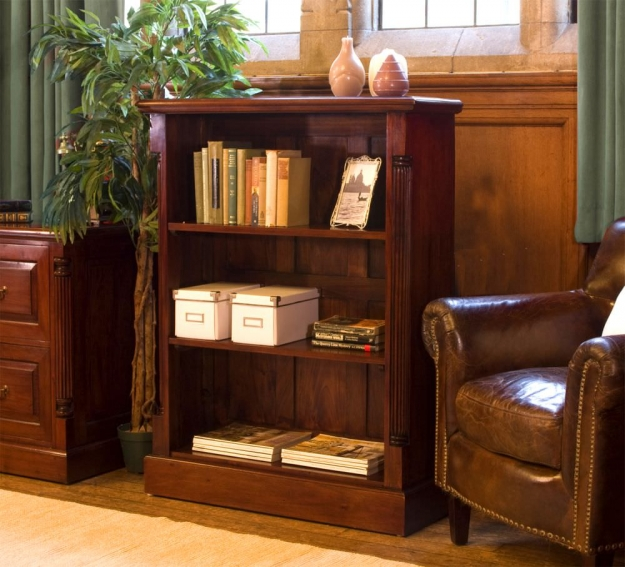 Baumhaus La Roque Mahogany Low Open Bookcase