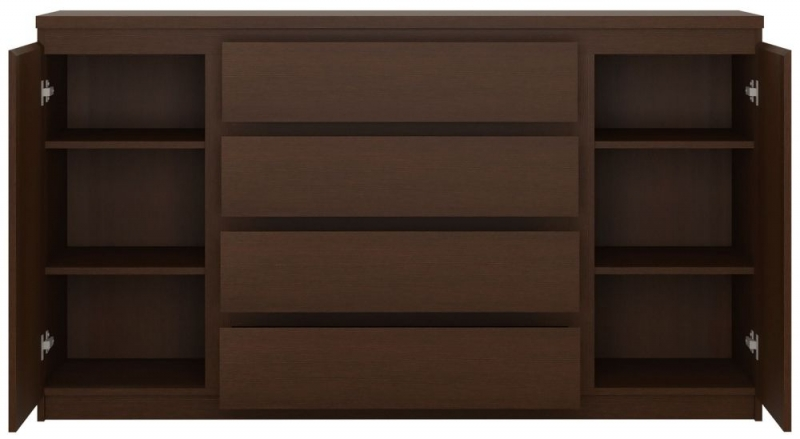 Pello Dark Mahogany Wide Sideboard