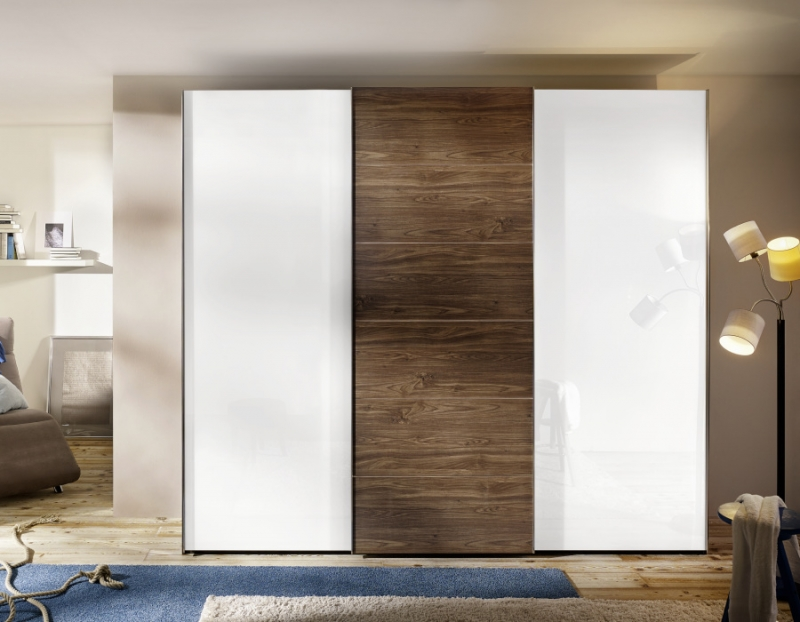 Buy Nolte Attraction Wood And Glass Sliding Wardrobe Online Cfs Uk