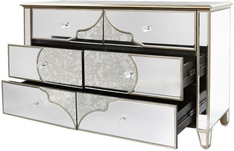 Morocco Mirrored Large Sideboard