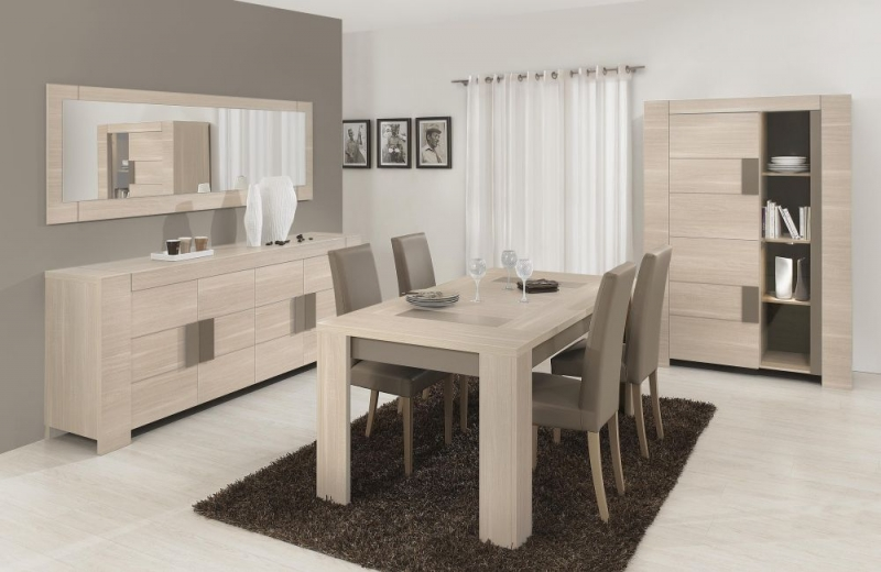Buy Gami Atlanta Light Oak Dining Table Square Online CFS UK - Light oak dining table