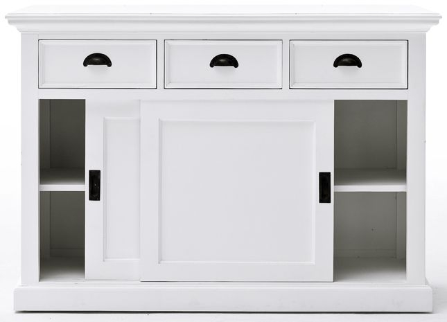 Nova Solo Halifax White Sliding Door Buffet