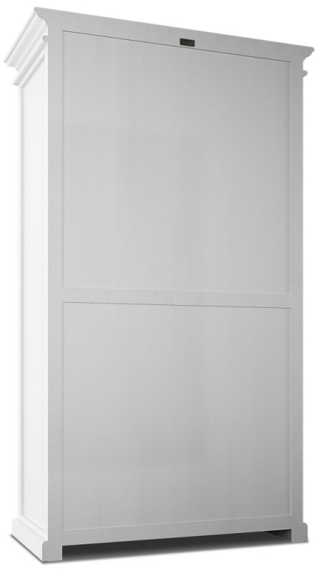 Nova Solo Halifax White 2 Door 2 Drawer Wardrobe