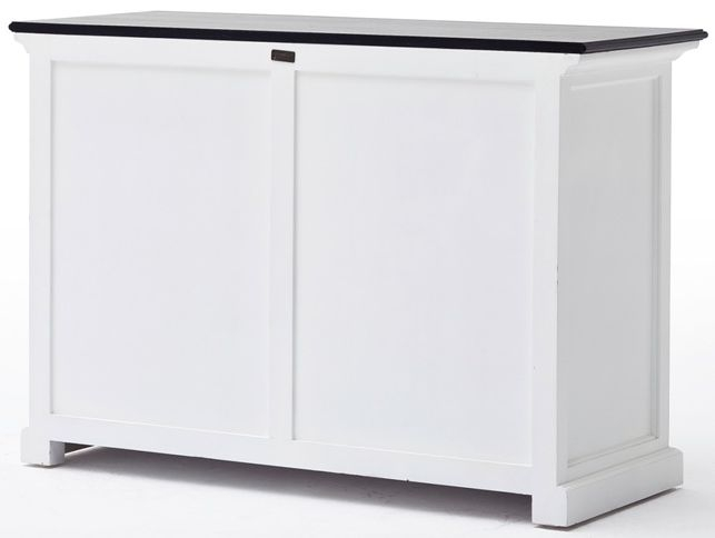 Nova Solo Halifax Contrast Sliding Door Buffet - White and Black