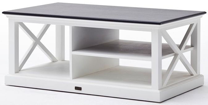 Nova Solo Halifax Contrast Coffee Table - White and Black