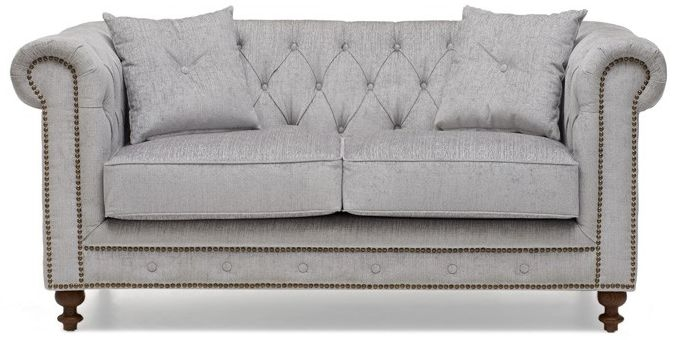 Grey Fabric Sofas Image Is Loading Chester Viscose Mix 3 Seater