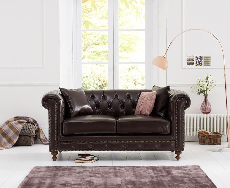 Mark Harris Montrose Brown Leather 2 Seater Sofa