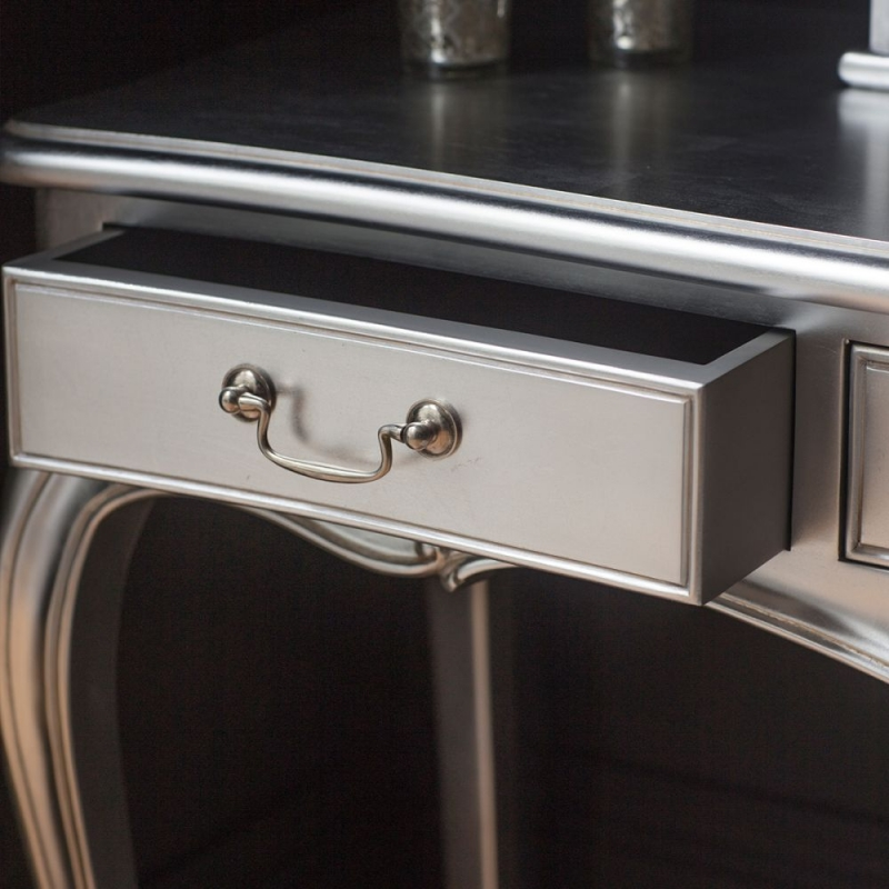 Frank Hudson Chic Dressing Table - Silver