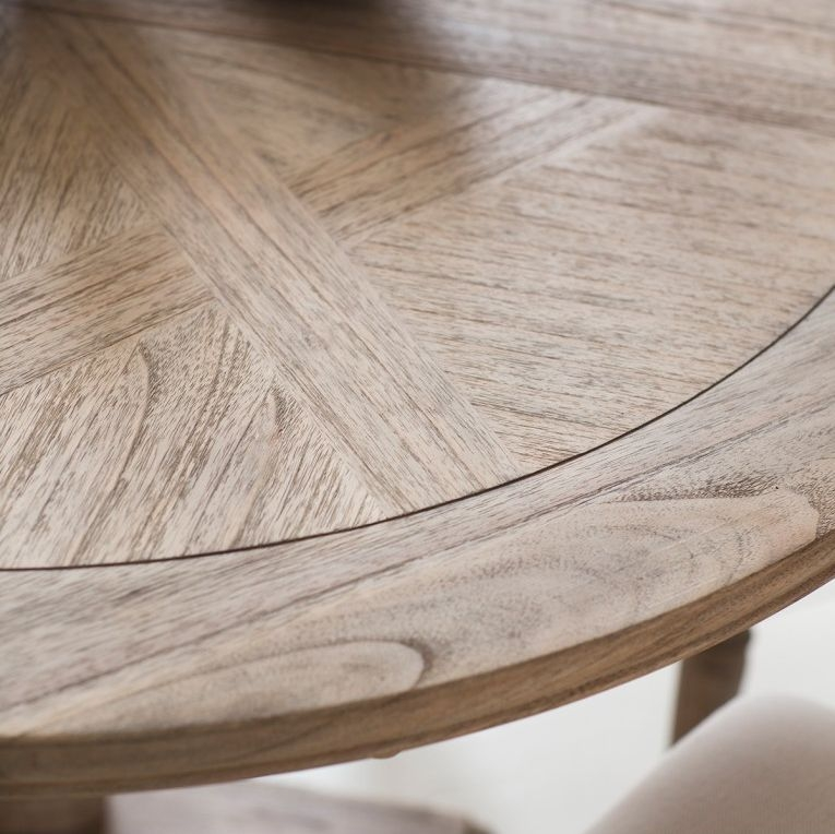 Hudson Living Mustique Round Extending Dining Table and 4 Chairs
