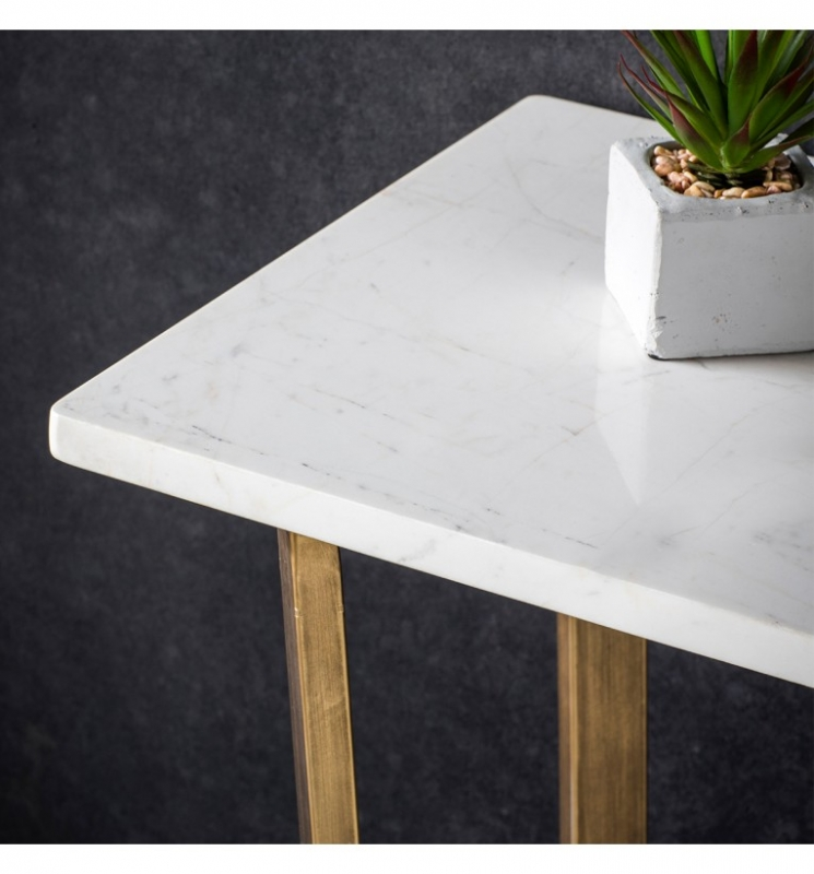 Hudson Living Cleo Marble Console Table