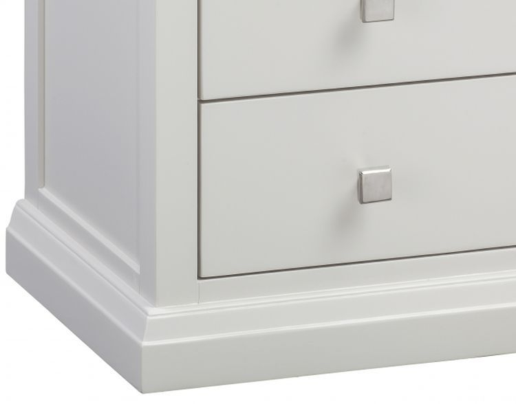 Homestyle GB Cotswold Oak and Painted Bedside Cabinet