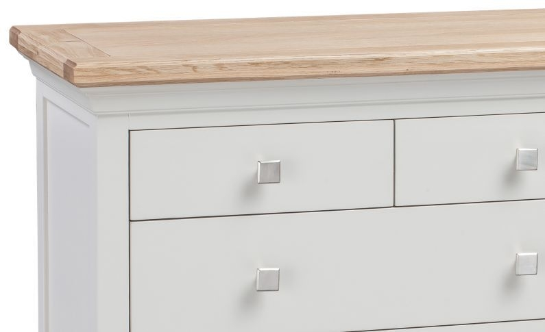 Homestyle GB Cotswold Oak and Painted 3+2 Drawer Chest
