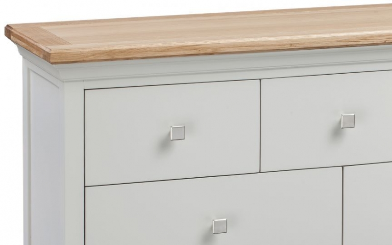 Homestyle GB Cotswold Oak and Painted 4+3 Drawer Chest