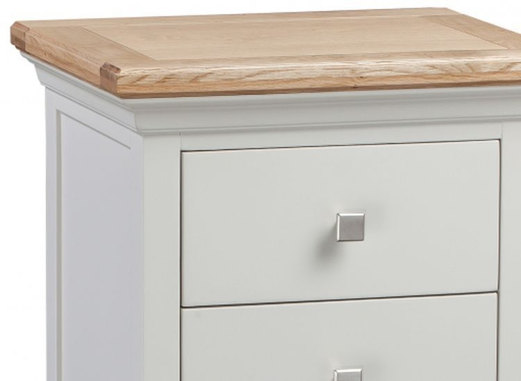 Homestyle GB Cotswold Oak and Painted 5 Drawer Tallboy