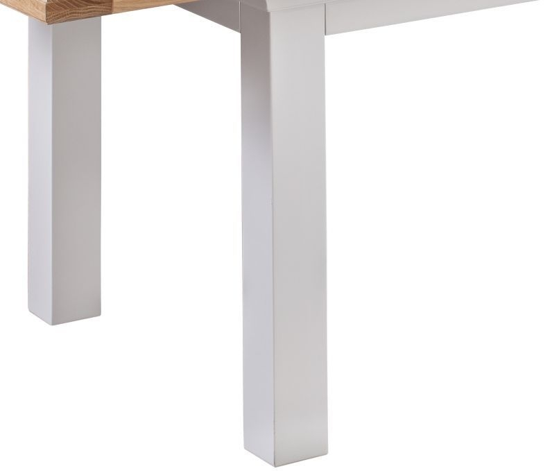 Homestyle GB Cotswold Oak and Painted Extending Dining Table