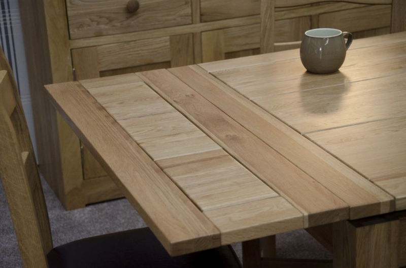 Homestyle GB Elegance Oak Square Extending Dining Table