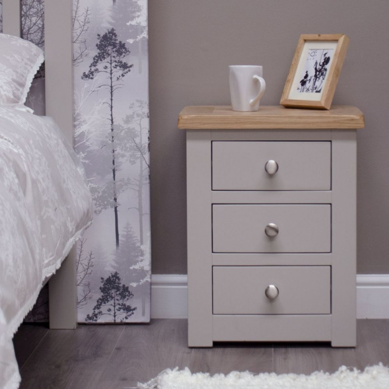 Homestyle GB Diamond Painted Bedside Cabinet