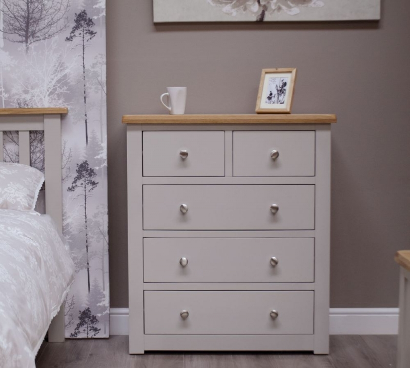 Homestyle GB Diamond Painted 3+2 Drawer Chest