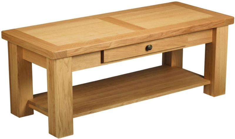 Charltons Bretagne Oak 1 Drawer Storage Coffee Table