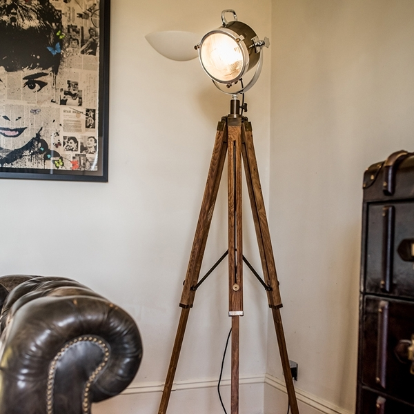 Buy culinary concepts spotlight floor lamp with wooden tripod pair culinary concepts spotlight floor lamp with wooden tripod pair mozeypictures Choice Image