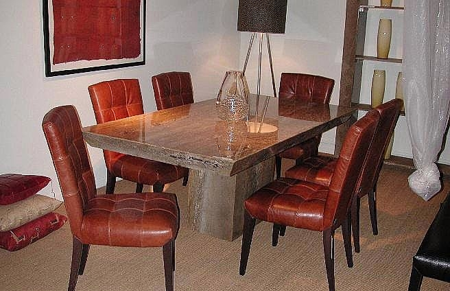 Stone International Roma Smooth Marble Dining Table